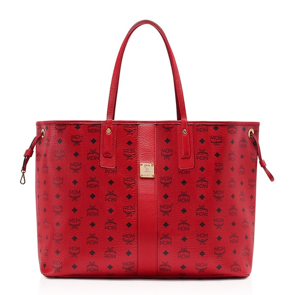 2d7bb8cc9 MCM Bags | Large Red Reversible Tote Handbag Purse New | Poshmark